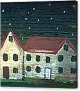Prim Houses All In A Row Canvas Print