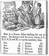 Primer: Roman Numerals Canvas Print