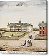 Princeton College, 1764 Canvas Print