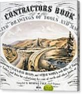 Print Shows Construction Of A Railroad Canvas Print