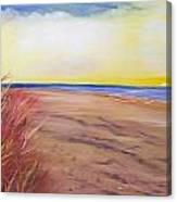Private Beach Canvas Print