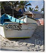 Progreso Mexico Fishing Boat Canvas Print