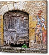 Provence Window And Wall Painting Canvas Print