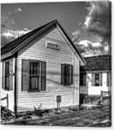 Provincetown Cottages Bw Canvas Print