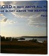 Psalm 113 4 Canvas Print