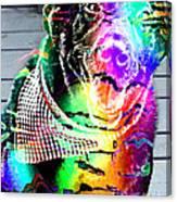 Psychedelic Black Lab With Kerchief Canvas Print