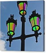 Psychedelic Streetlamps Canvas Print