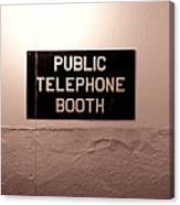 Public Phone Booth Canvas Print