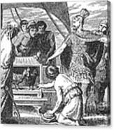 Publius Claudius Pulcher And The Sacred Canvas Print