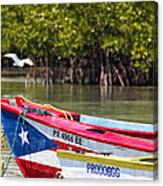 Puerto Rican Fishing Boats Canvas Print