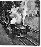 Puffing Billy Black And White Canvas Print