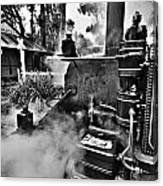 Puffing Billy Black And White V2 Canvas Print