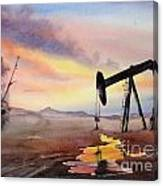 Pumping For Gold Canvas Print