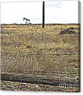 Pumping Oil On The Texas Prairie Canvas Print