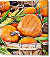 Pumpkin And Corn Combo Canvas Print