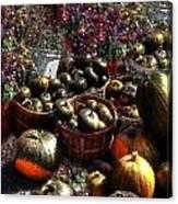 Pumpkin Impressions Canvas Print