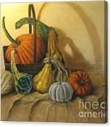 Pumpkin In A Basket Canvas Print