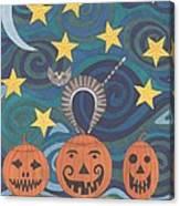 Pumpkin Perch Canvas Print
