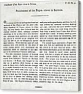Punishment Of Slaves Text Canvas Print