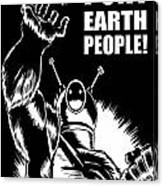 Puny Earth People Canvas Print