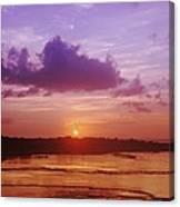 Purple And Orange Sunset Canvas Print
