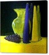 Purple And Yellow Still Life Canvas Print