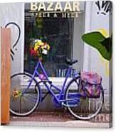 Purple Bike Canvas Print