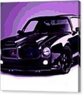 Purple Firebird Canvas Print