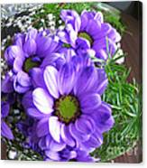 Purple Flowers In The Bubble Canvas Print