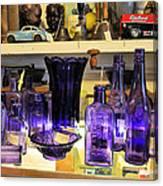 Purple Glass Collection Canvas Print