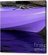 Purple Kayak Canvas Print