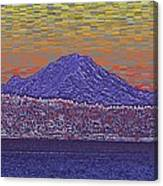 Purple Mountain Majesty Sunset Canvas Print
