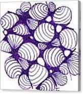 Purple Shells Canvas Print