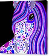 Purple Spotted Horse Canvas Print