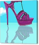Purple Stilt Stilettos Reflections Canvas Print