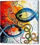 Purposeful Ichthus By Two Canvas Print