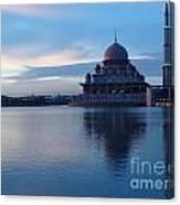 Putrajaya Mosque At Evening Canvas Print