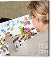 Puzzle Therapy Canvas Print