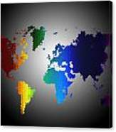 Puzzle World Treasure Map Canvas Print