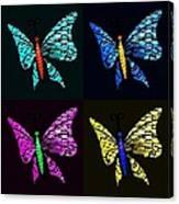 Quad Butterflies Canvas Print