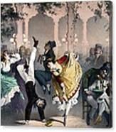 Quadrille At The Bal Bullier Canvas Print