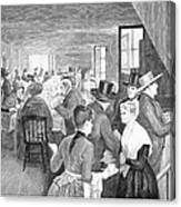 Quaker Meeting, 1888 Canvas Print