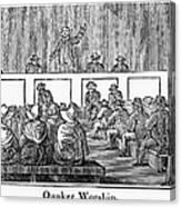 Quaker Worship, 1842 Canvas Print