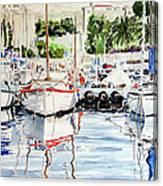 Quattro Barche Al Pennello Di Bonaria Canvas Print