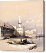 Quay At Suez Febrary 11th 1839 Canvas Print