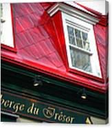 Quebec City -auberge Canvas Print