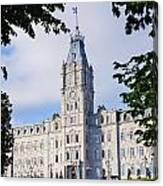 Quebec Parliament Buildings Quebec Canvas Print