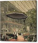Queen Victoria Presides At The State Canvas Print