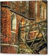 Queens' College And Mathematical Bridge Canvas Print