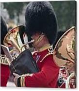 Queens Guards Band Canvas Print